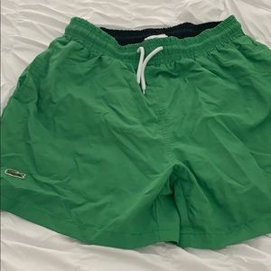 New men's Lacoste swim shorts